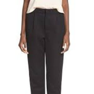 LEITH Herringbone Knit Pants Black L NWT